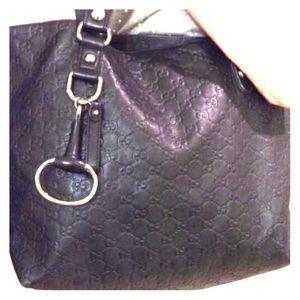 Gucci Icon Bit Medium Guccissima Leather Tote